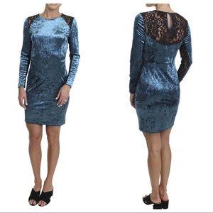 Juicy Couture Black Label Velour Lace-Back Dress
